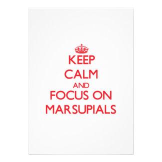 Keep Calm and focus on Marsupials Custom Invitations