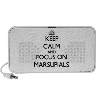 Keep Calm and focus on Marsupials Notebook Speakers