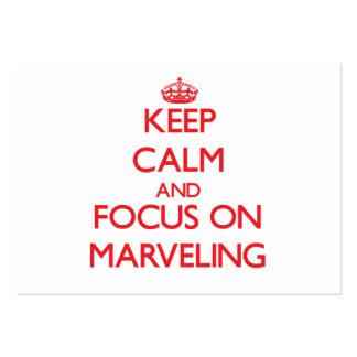Keep Calm and focus on Marveling Business Card Templates
