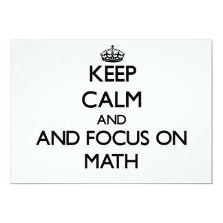 Keep calm and focus on Math 5x7 Paper Invitation Card