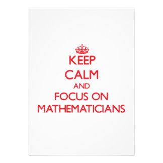 Keep Calm and focus on Mathematicians Custom Announcement