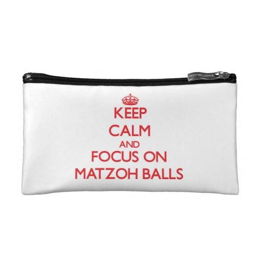 Keep Calm and focus on Matzoh Balls Makeup Bag