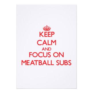 Keep Calm and focus on Meatball Subs Invitation