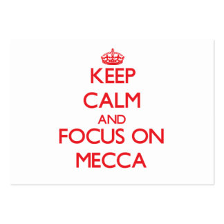 Keep Calm and focus on Mecca Large Business Cards (Pack Of 100)