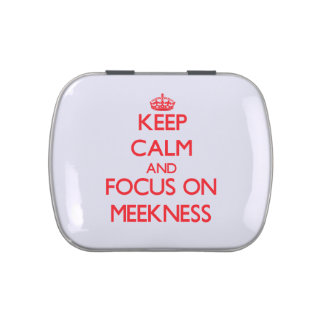 Keep Calm and focus on Meekness Jelly Belly Candy Tins