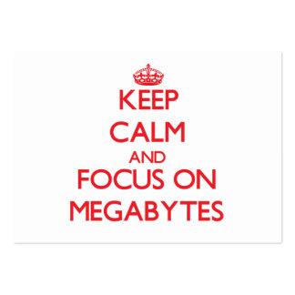 Keep Calm and focus on Megabytes Business Cards