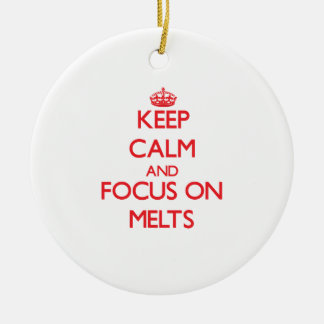 Keep Calm and focus on Melts Christmas Tree Ornament