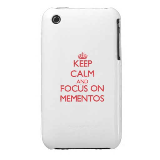 Keep Calm and focus on Mementos iPhone 3 Cases