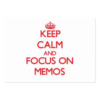 Keep Calm and focus on Memos Business Cards