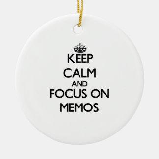 Keep Calm and focus on Memos Christmas Ornaments