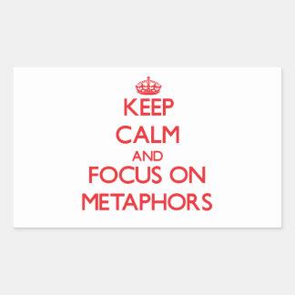 Keep Calm and focus on Metaphors Sticker
