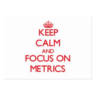 Keep Calm and focus on Metrics Business Card