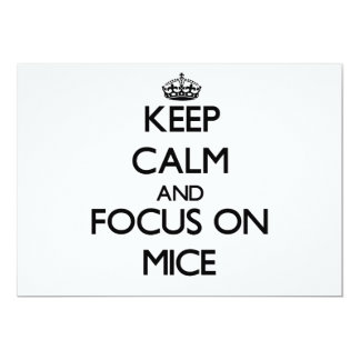 Keep calm and focus on Mice 5x7 Paper Invitation Card