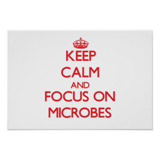 Keep Calm and focus on Microbes Poster