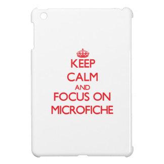 Keep Calm and focus on Microfiche iPad Mini Case