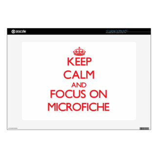 Keep Calm and focus on Microfiche Laptop Skins
