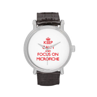 Keep Calm and focus on Microfiche Wristwatch