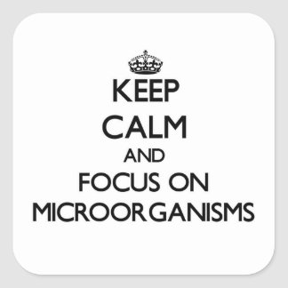 Keep Calm and focus on Microorganisms Square Sticker