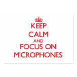 Keep Calm and focus on Microphones Business Cards