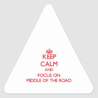 Keep Calm and focus on Middle Of The Road Triangle Sticker
