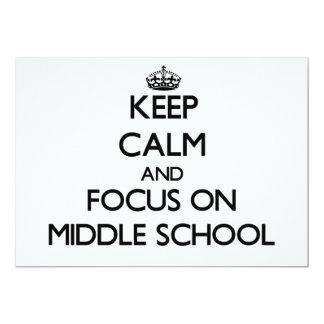 Keep Calm and focus on Middle School Custom Invite