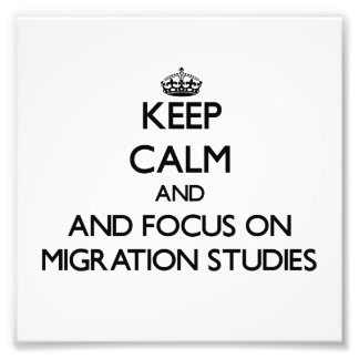 Keep calm and focus on Migration Studies Photograph
