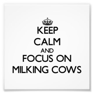Keep Calm and focus on Milking Cows Art Photo