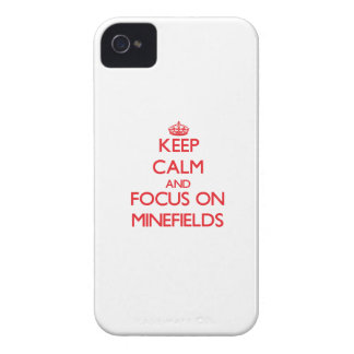 Keep Calm and focus on Minefields iPhone 4 Covers
