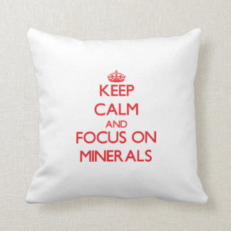 Keep Calm and focus on Minerals Pillows
