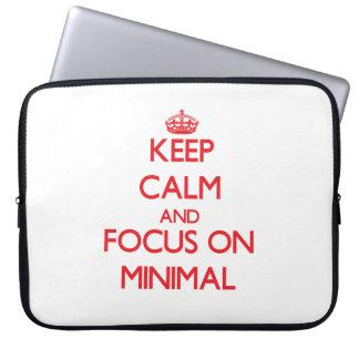Keep Calm and focus on Minimal Laptop Computer Sleeve