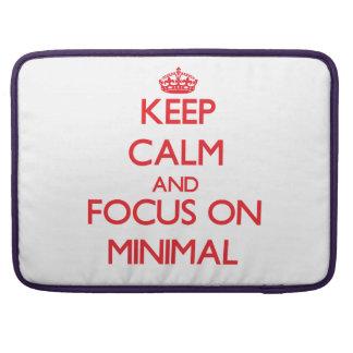 Keep Calm and focus on Minimal MacBook Pro Sleeves