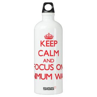 Keep Calm and focus on Minimum Wage SIGG Traveler 1.0L Water Bottle