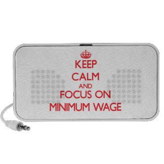Keep Calm and focus on Minimum Wage iPod Speakers