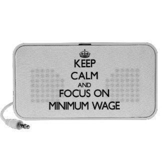 Keep Calm and focus on Minimum Wage Speaker System