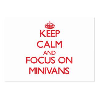 Keep Calm and focus on Minivans Business Card Templates