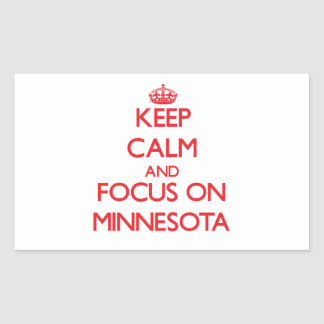 Keep Calm and focus on Minnesota Stickers