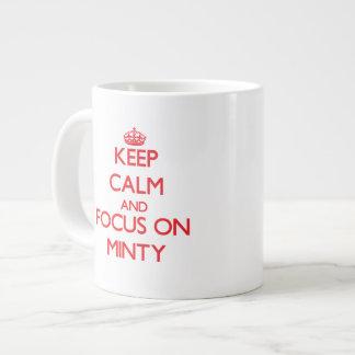 Keep Calm and focus on Minty 20 Oz Large Ceramic Coffee Mug