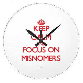 Keep Calm and focus on Misnomers Wallclocks