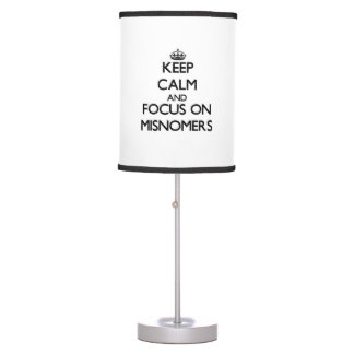 Keep Calm and focus on Misnomers Lamps