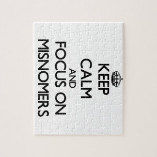 Keep Calm and focus on Misnomers Puzzles
