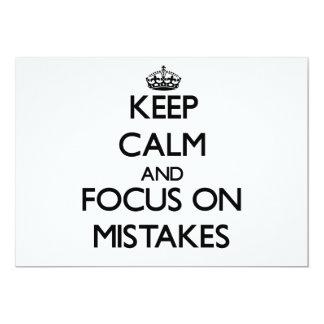 Keep Calm and focus on Mistakes Card