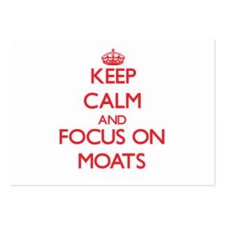 Keep Calm and focus on Moats Large Business Cards (Pack Of 100)