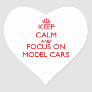 Keep calm and focus on Model Cars Heart Sticker