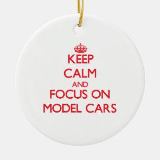 Keep calm and focus on Model Cars Christmas Ornament