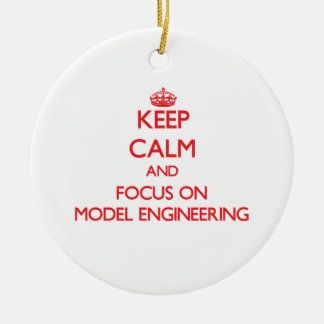 Keep calm and focus on Model Engineering Christmas Tree Ornament