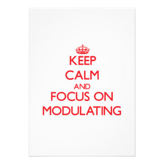 Keep Calm and focus on Modulating Personalized Announcements