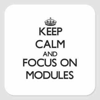 Keep Calm and focus on Modules Square Sticker