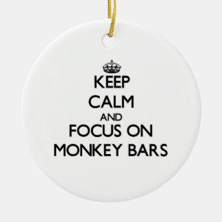 Keep Calm and focus on Monkey Bars Christmas Ornaments