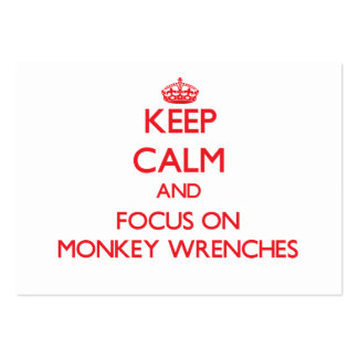 Keep Calm and focus on Monkey Wrenches Large Business Cards (Pack Of 100)