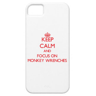 Keep Calm and focus on Monkey Wrenches iPhone 5 Cover